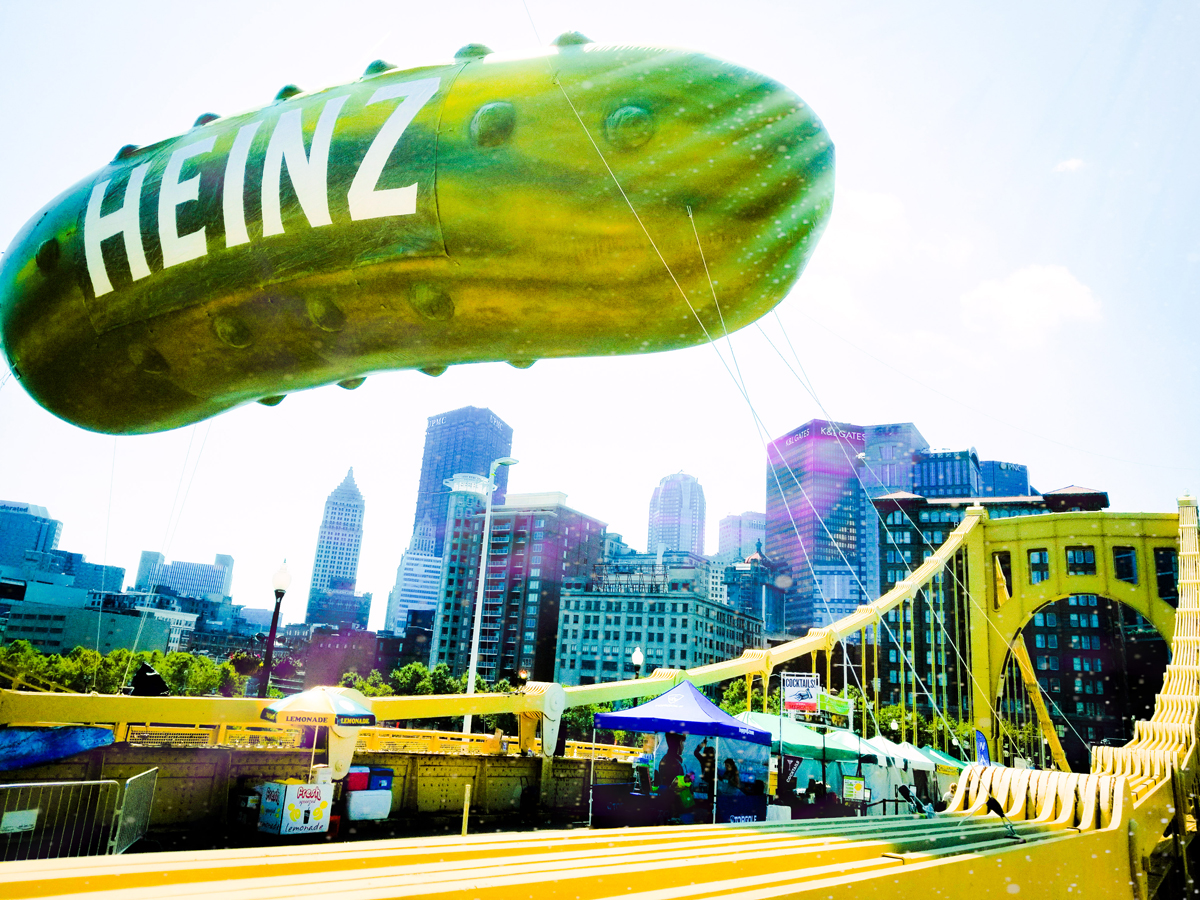 Heinz Pickle Balloon In Full Color - Photography | Pittsburgh, PA