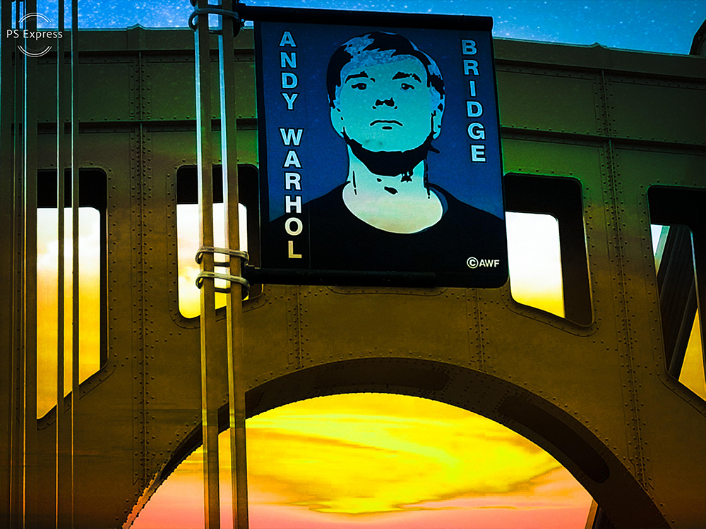 Bridge With an Andy Warhol Banner - Original Photography | Pittsburgh, PA