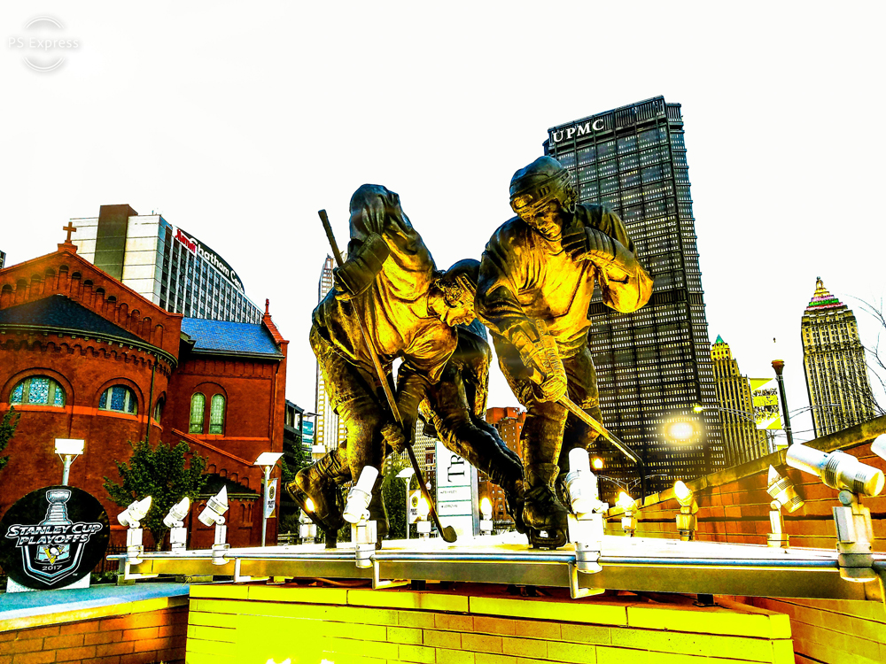 Sculpture Of Hockey Players - Original Photography | Pittsburgh, PA